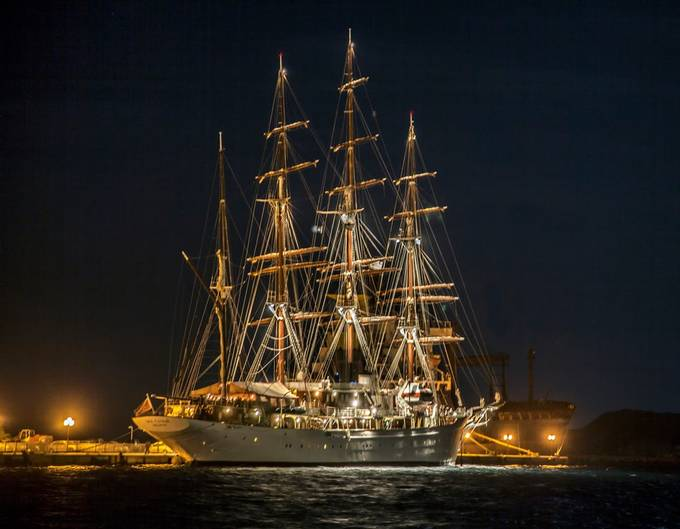 Sea Cloud Docked by AnnSagel - Night Wonders Photo Contest