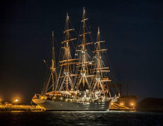 Sea Cloud Docked by AnnSagel - Night Wonders Photo Contest