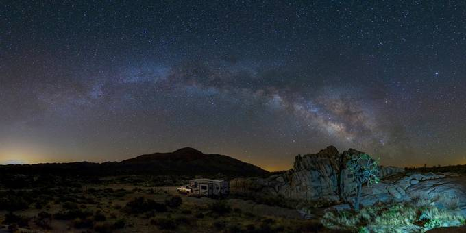 Mojave Cross Galaxy by toxictabasco - Night Wonders Photo Contest