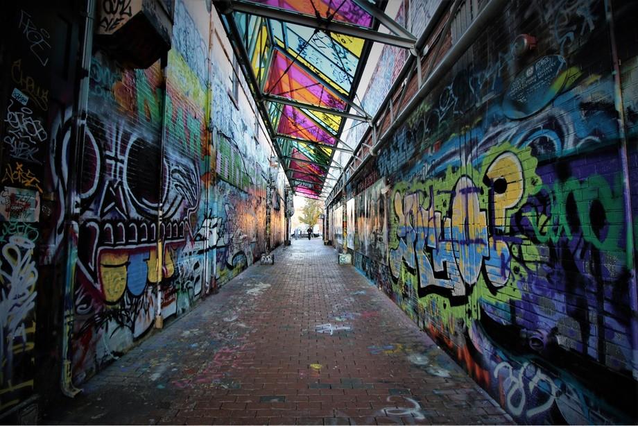 Lane of colors