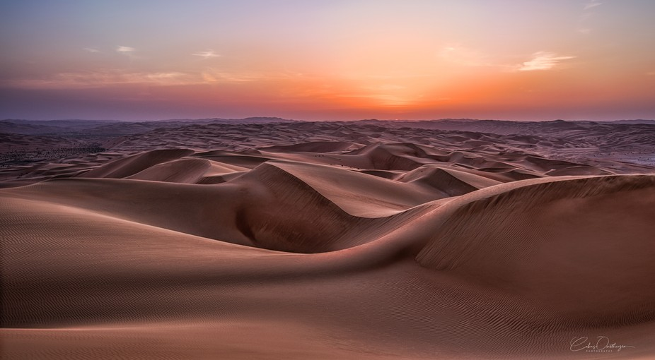 Taken in the Empty Quarter of the UAE during the Blue Hour