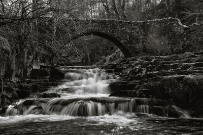 The bridge at West Burton in Wensleydale.