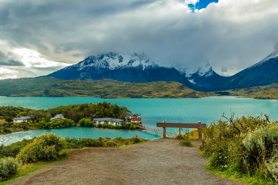 the first hotel in Torres del Paine, Chile.....Patagonia.....I would.
