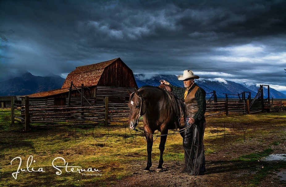 This is one of the oldest cowboys left in our area and his oldest reigning Horse Merlin. The 2 ar...