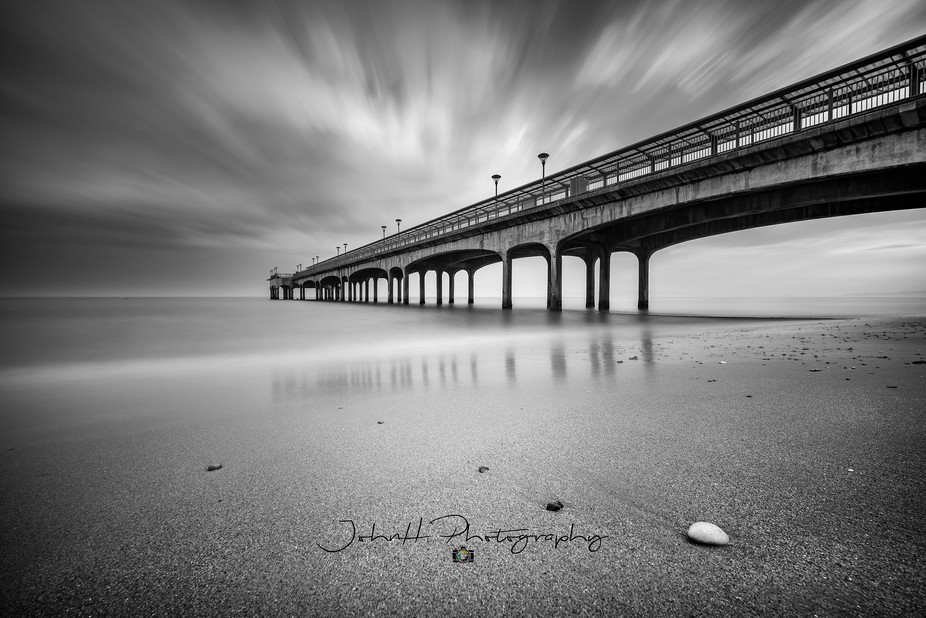 A long exposure shot of Boscombe Pier with an approaching storm. Taken on the Sony A7riii + Laowa...