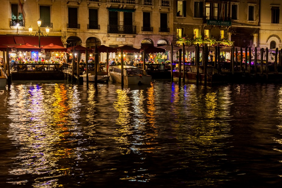 Venice Canal Lights at NIght