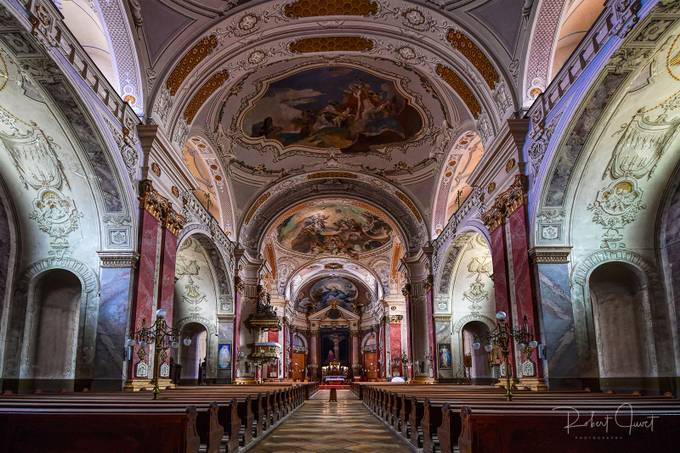 Die Kirche in Kecskemet  by robertjuvet - Ceilings Photo Contest