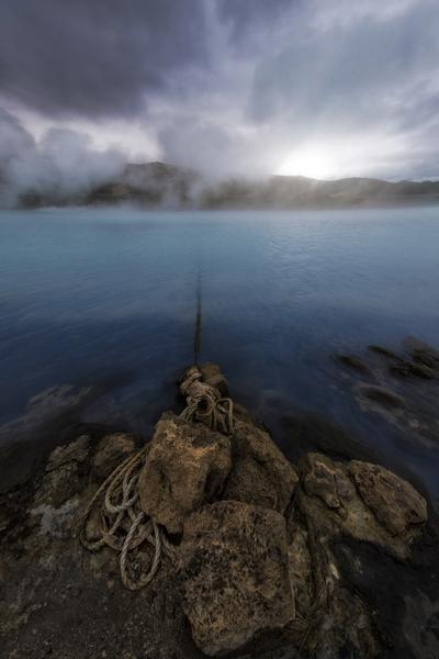 Blue lagoon . Iceland