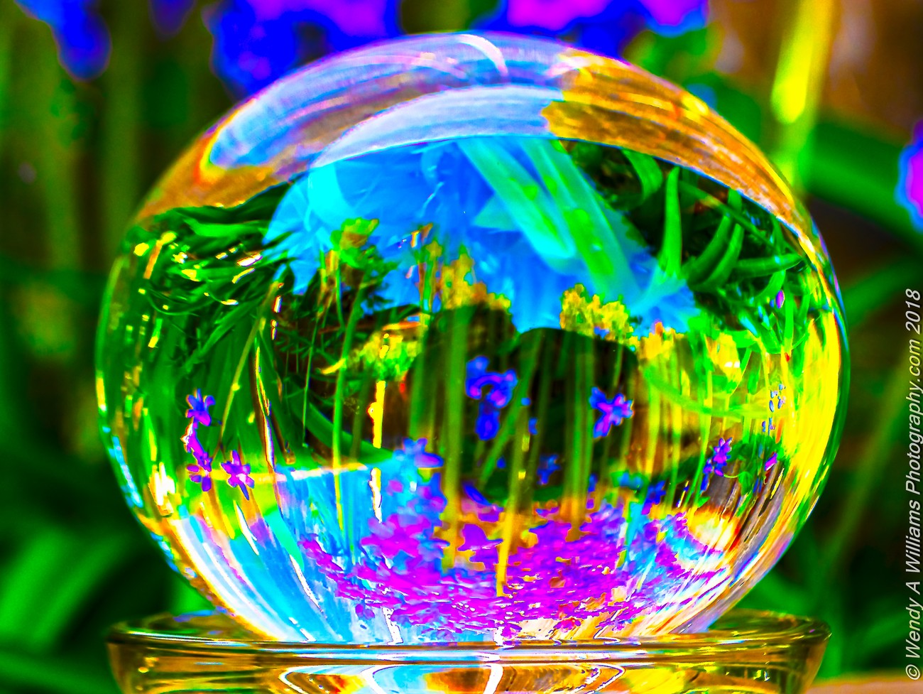 Using my Lensball to show the beauty of spring and celebrating Earth Day