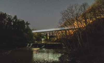 Train over French Hollows Falls