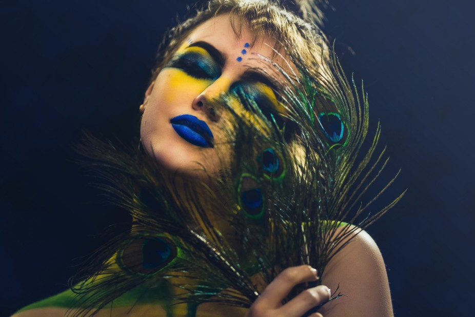 I had another TCK that did a shoot almost a decade ago with peacock feathers and was inspired to ...