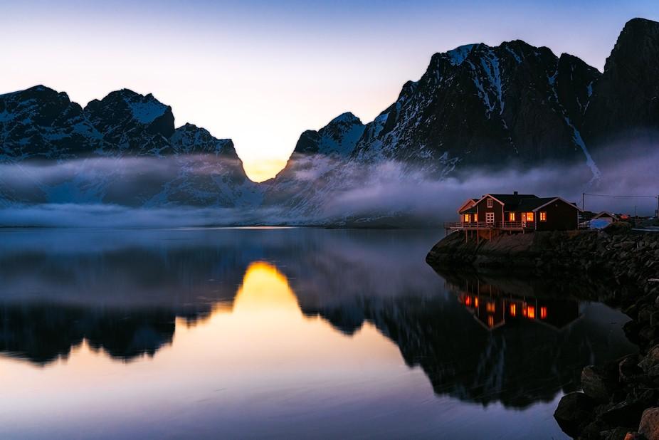 I spent a wonderful week in Lofoten, Norway. This shot was taken at midnight. A wonderful spot ne...