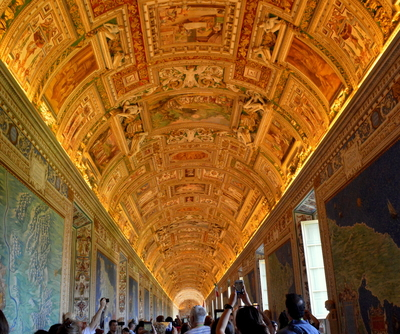 Pathway to the Sistine Chapel - Ceiling Vatican City, Rome
