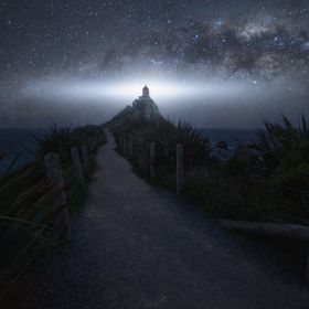 The Milky Way in the Southern Hemisphere has a peculiarity with respect to what we are accustomed to this is the reverse of how we usually see it...