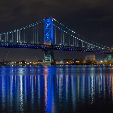 "The captivating Philadelphia's bridge at night.  Copyright Notice: ALL IMAGES on this web site are protected by the U.S. and international copyright laws, all rights reserved. The image may not COPIED, REPRODUCED, MANIPULATED, or USED IN ANY WAY, without written permission of Jelieta Walinski Ph.D, & Walinski's Inner Vision Photography a licensed owner. Any unauthorized usage will be prosecuted to the full extent of US Copyright Law.  Ang larawan na ito ay copyrighted kaya huwag mag-atubiling kopyahin, o ""mag-screenshot"", huwag imanipula, at aangkinin.Alalahanin na araw-araw ko minomonitor ang mga nilalagay mo sa iyong public wall."