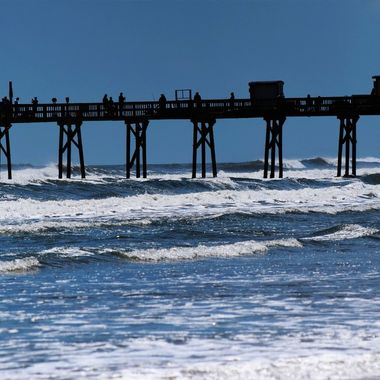 Crabby Joes Pier from the Beach