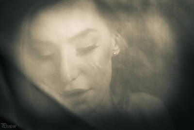 Behind the veil portrait