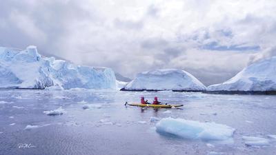 Paddling on Antarctic Peninsula