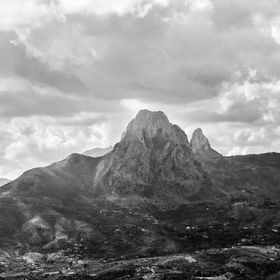 black and white atmosphere of one of the mountains in Jijel, Algeria. I took a fine art approach to this picture the project a certain feeling.