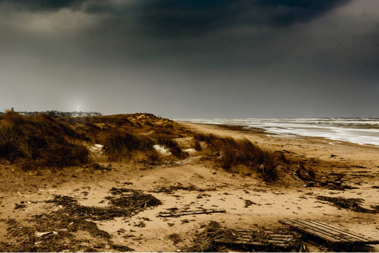 A stormy winter day in Southwold