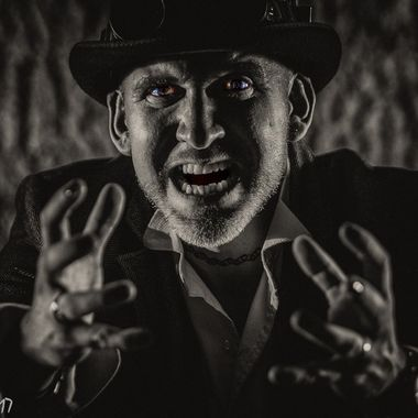Promotional images for Chris Longman's band Chasing the Dark.Facebook@ChasingtheDark