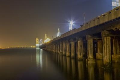 cunningham Pier at night