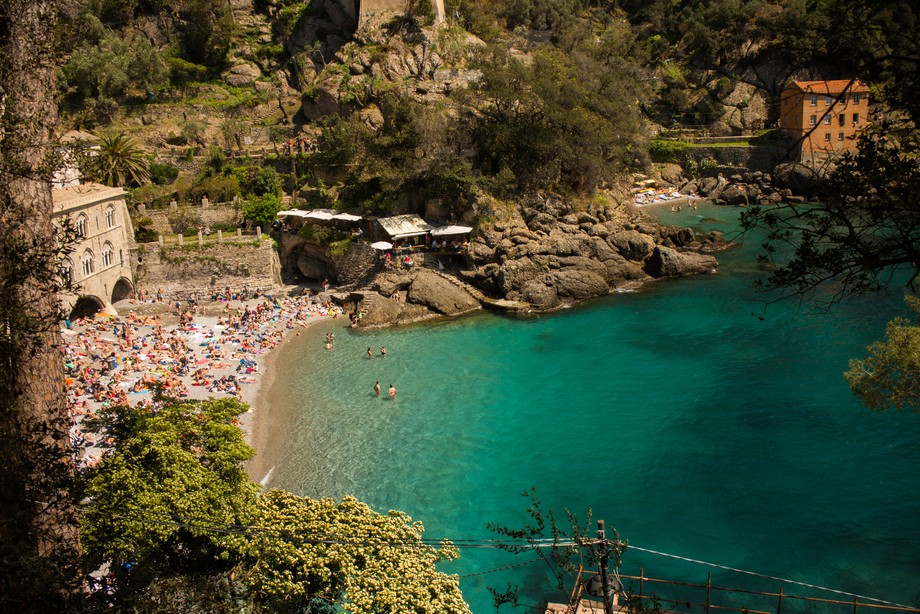Embarked on a hike starting from Camogli to Portofino. When you see such waters in between, you h...
