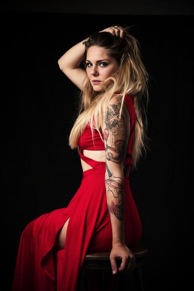 Tatiana Red Dress - Studio Session