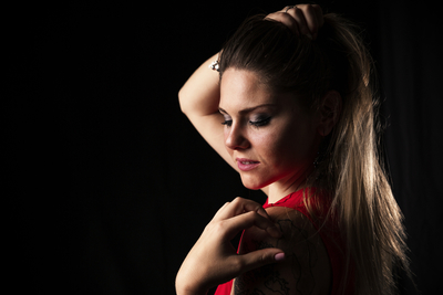 Tatiana Red Dress - Studio Session
