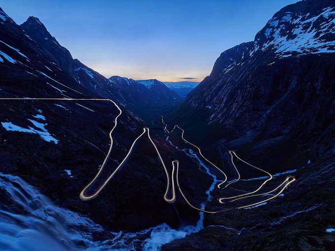 Mountain road Vol. 2 by kjetilstenslandvilnes - Night Wonders Photo Contest
