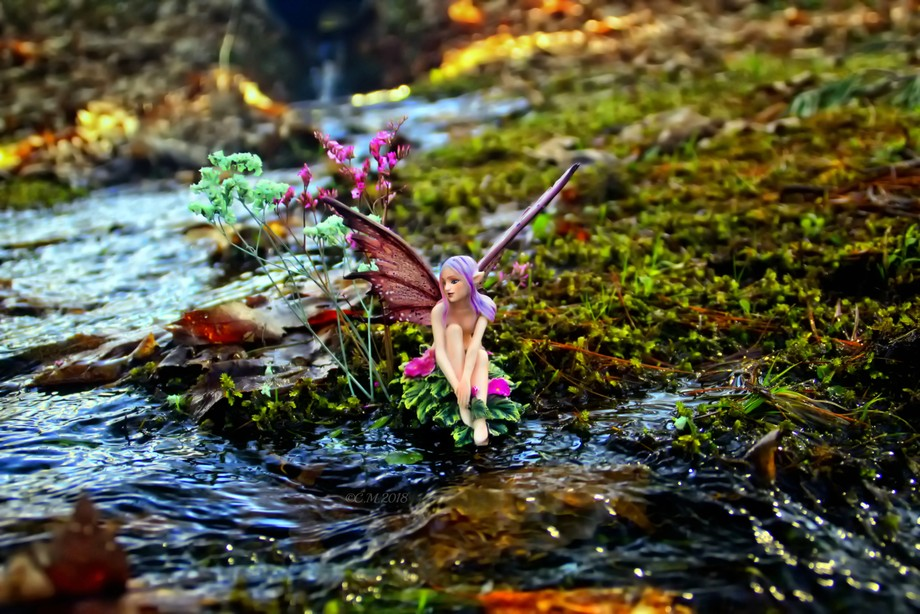 Shot of my newest fairy, getting her feet wet, as if testing the water, before getting in. I adde...