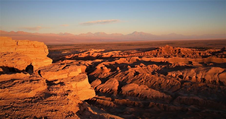 Valley of the Dead as the sun was setting over the Atacama