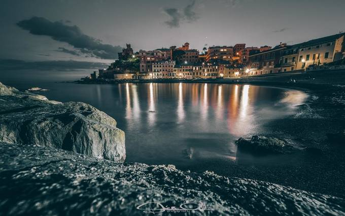 Sturla by night, Genova by Diepegi - Photogenic Villages Photo Contest