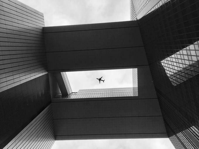 Looking up in Hong Kong by MeganShadow - Simple Architecture Photo Contest