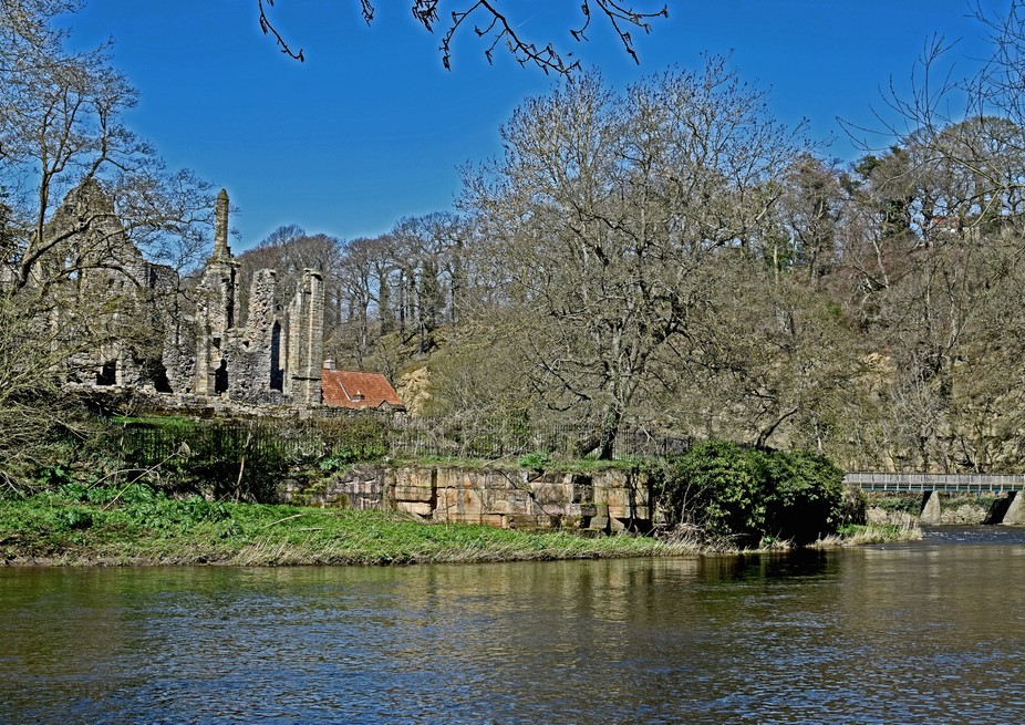 Finchale priory on the river Wear at County Durham