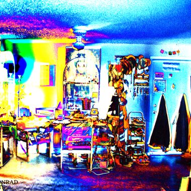 Room in false color