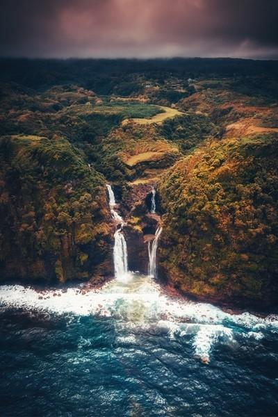 One of the many beautiful waterfalls in Maui, Hawaii.