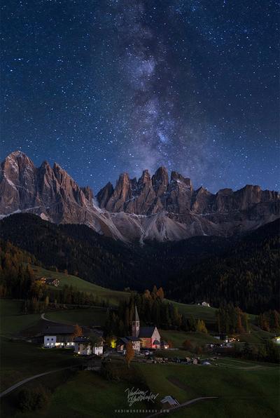Milky Way over Val di Funes