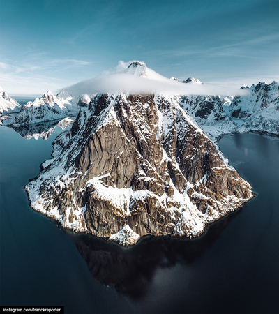 aerial view of the lofoten