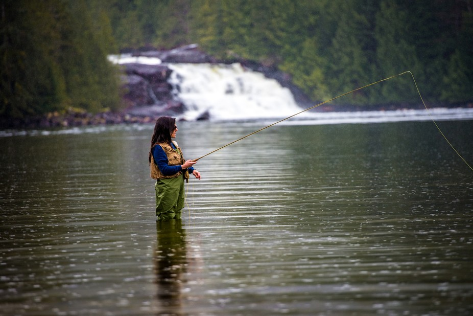 Fly fishing in the Great Bear Rainforest