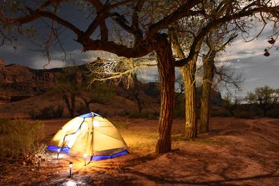 Camping Beneath Moon Light