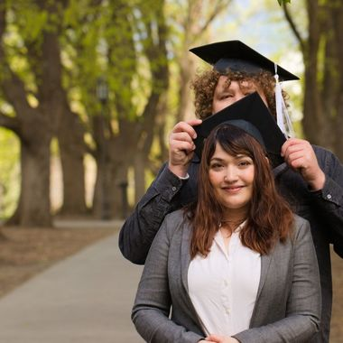 A graduation pic I did for friends at the University of Idaho.