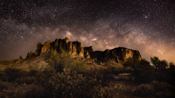 Milky Way over Flatiron by MichaelRung - The Night And The Mountains Photo Contest