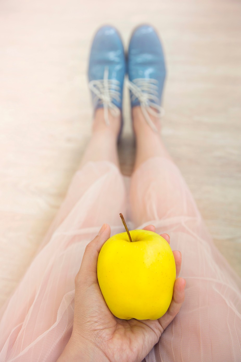 Yellow apple by MarinaDemse - Colorful Objects Photo Contest