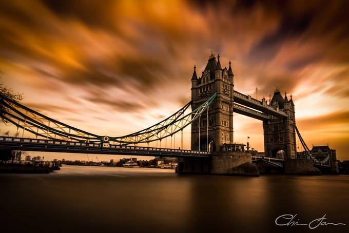 Turbulent Skies at Tower Bridge by Chris_James - Sunset And The City Photo Contest