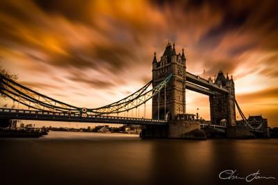 Turbulent Skies at Tower Bridge