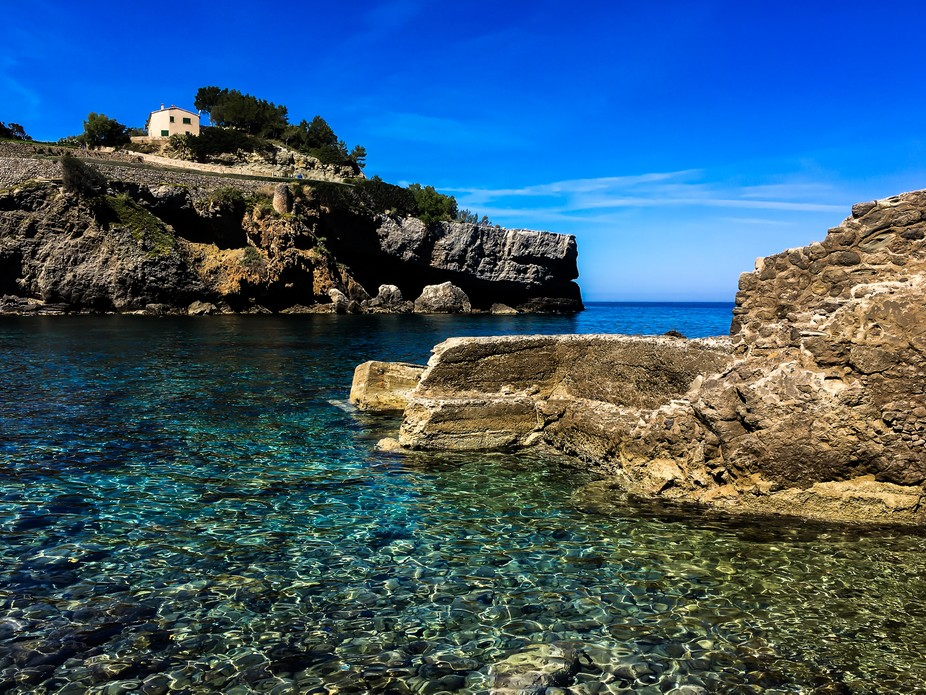 This photo was taken at one of the many beautiful beaches in Mallorca, Spain.