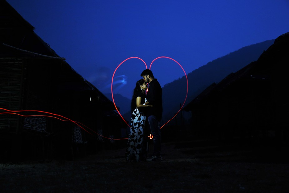 Destination pre-wedding shoot at almost late night ( papikondalu India.).I used Canon 5diii 24-10...
