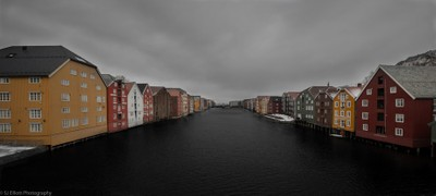 Bakklandet and the Nidelva River Colour Splash