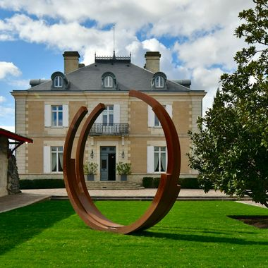 Sculpture at Chateau Haut Bailly